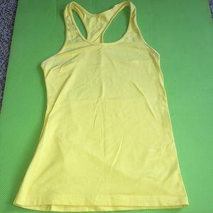Mustard yellow lululemon tank top
